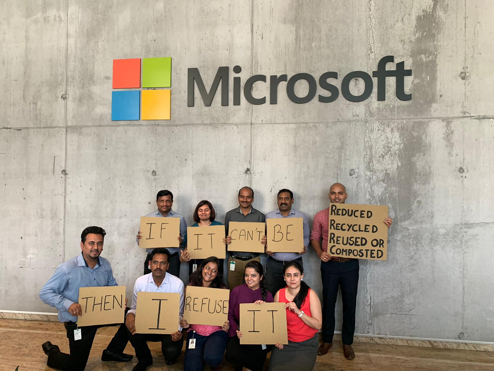 Microsoft employees on World Environment Day