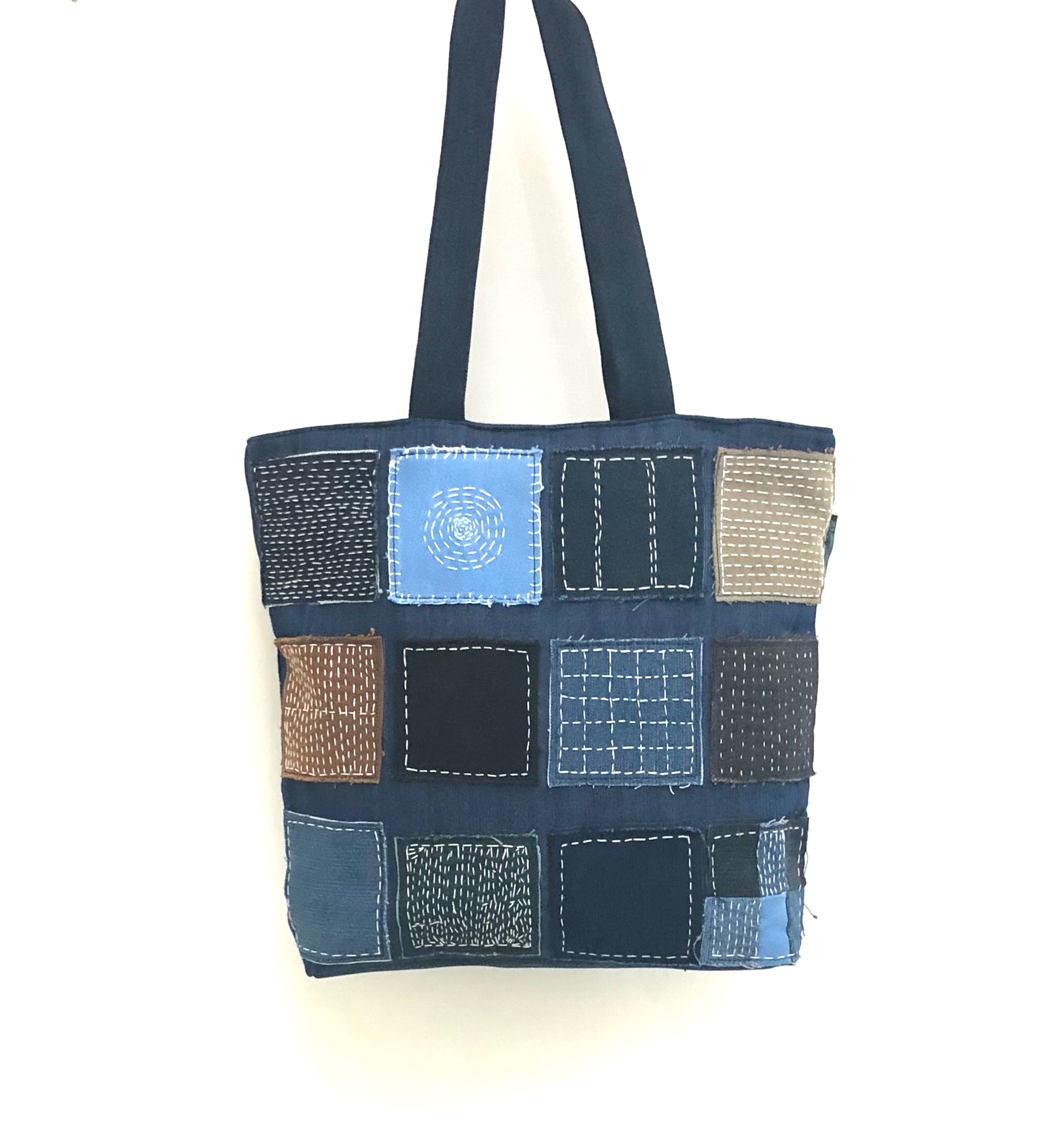 Waste Recycled Products – DENIM TOTE (KANTHA)