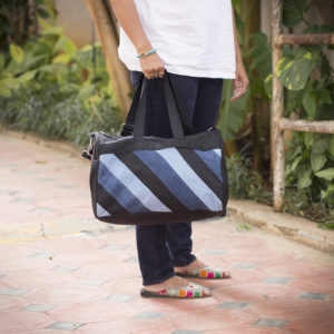 Waste Recycled Products – DENIM DUFFEL BAG