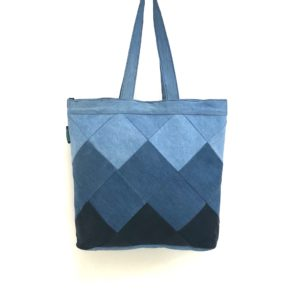 Waste Recycled Products – DENIM TOTE (SQUARE PATCHWORK)