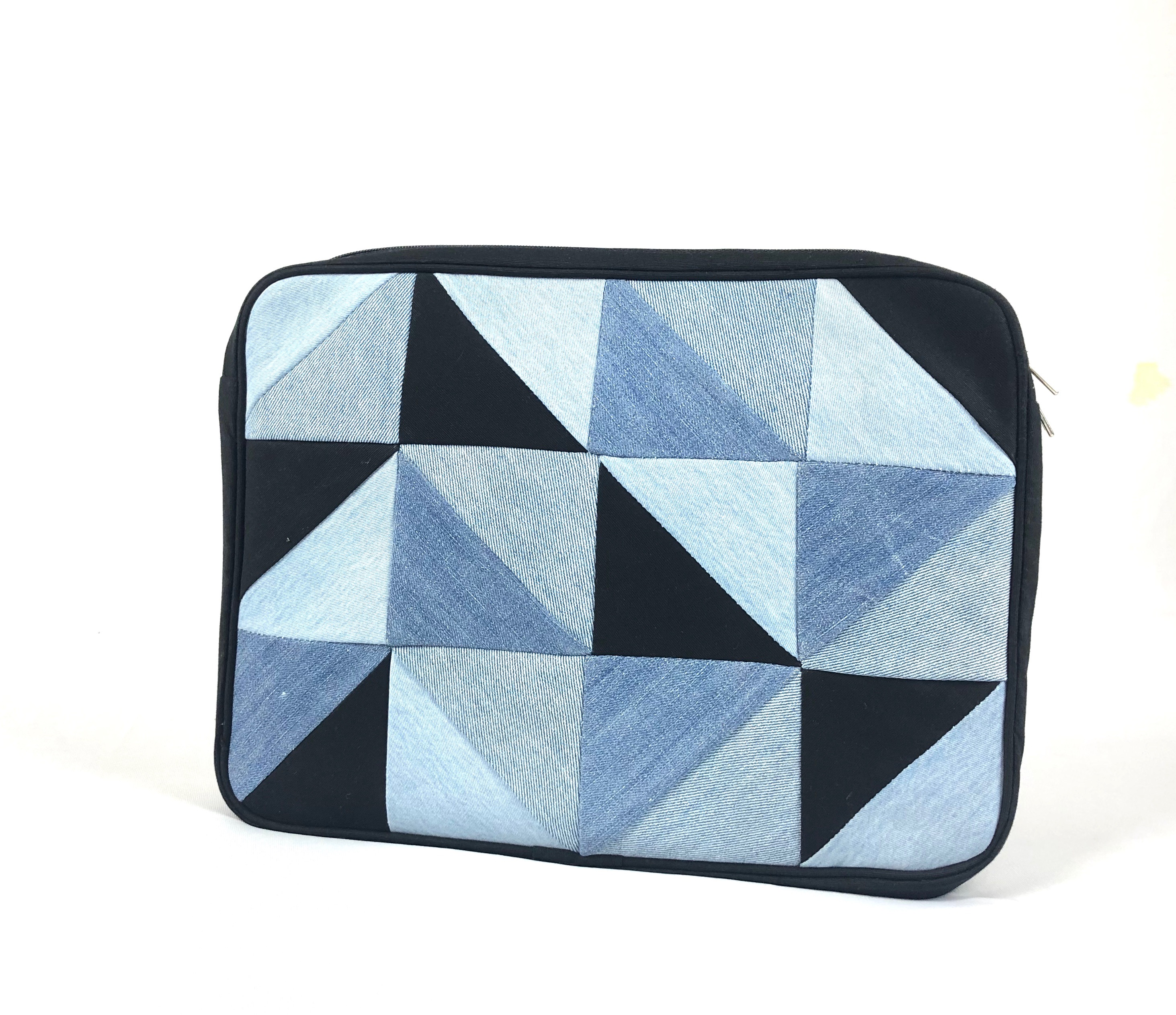 Waste Recycled Products – DENIM LAPTOP SLEEVE (TRIANGULAR)