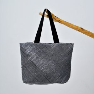 Waste Recycled Products – BEACH BAG - BLACK GLITTER