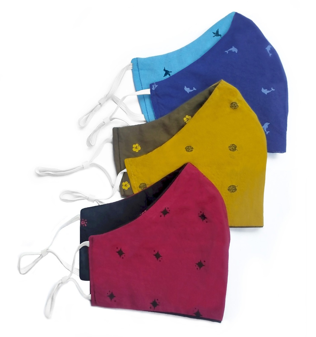 Waste Recycled Products – PRINTED ANTI FOGGING COTTON MASK WITH NOSE WIRE AND ADJUSTABLE EAR LOOPS